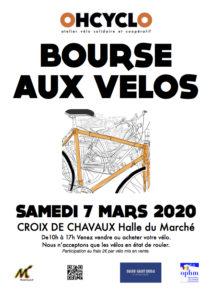 BOURSE AUX VÉLOS 7 MARS 2020