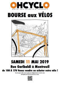 Bourse aux vélos – Rue Garibaldi – Samedi 11 mai 2019