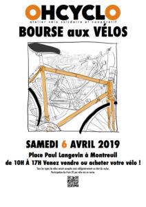 Bourse aux vélos – Croix de Chavaux – 6 avril 2019