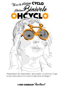 Accueil des bénévoles SAMEDI 26 OCTOBRE 10h-12h @ Atelier OHCYCLO