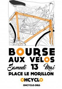 BOURSE AUX VÉLOS –  13 MAI 2017- Place Le Morillon