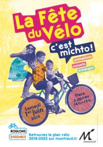 Fête du vélo à Montreuil – 1 juin 2019