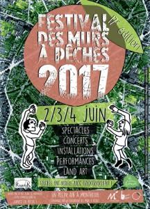 FESTIVAL DES MURS A PÊCHES 2-4 JUIN 2017