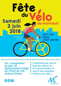 Fête du Vélo à Montreuil – 2 juin 2018